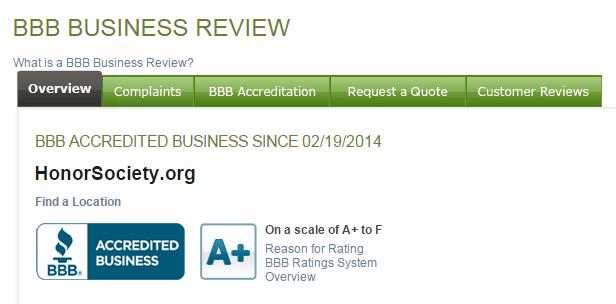 BBB A+ Rating – Better Business Bureau