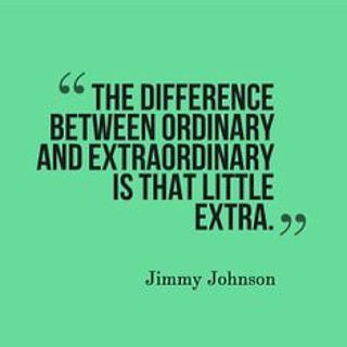 It's the little extra in life that makes a large difference #extraordinary #HonorSociety