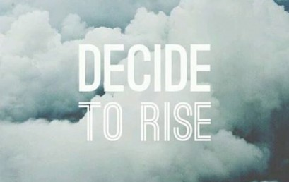 Rise up to meet each challenge, rise up and take accountability, and above all…rise up and become a leader.