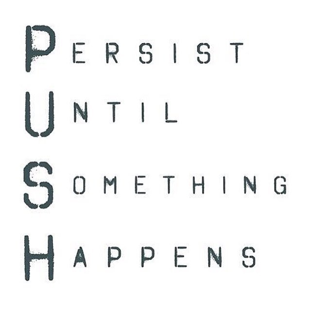 HonorSociety.org quote of the day. Keep pushing until you ...