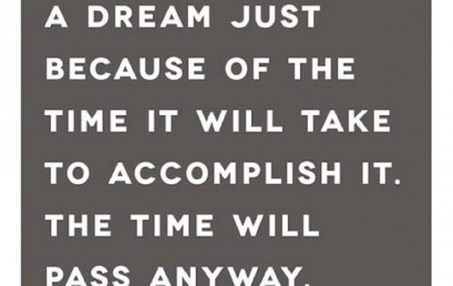 HonorSociety.org quote of the day…The time will pass, so make it worthwhile.
