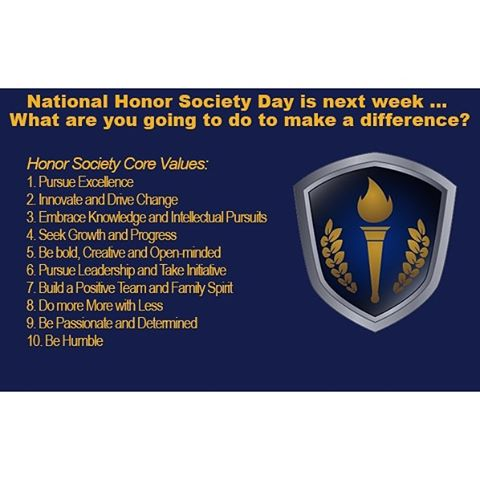 Our Core Values make HonorSociety.org members an asset to their school, their community, and their future employer. What will you do to celebrate Honor Society Day, on March 2nd?
