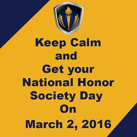 How could we keep calm? Honor Society Day is coming up fast, on March 2nd, and we couldn't be more excited! How will you celebrate?