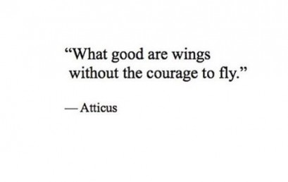 Are you living up to your full potential? #embraceyourcourage #andfly
