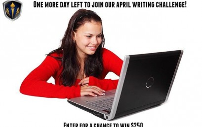 There is one more day left to enter our April Writing Challenge…Enter for your chance to win the $250 prize! You can even become a Featured Writer for HonorSociety.org…Make sure to read the following directions and submit your entries: http://bit.ly/1RoJ9UK