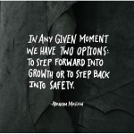 Which option will you choose today? #stepforward