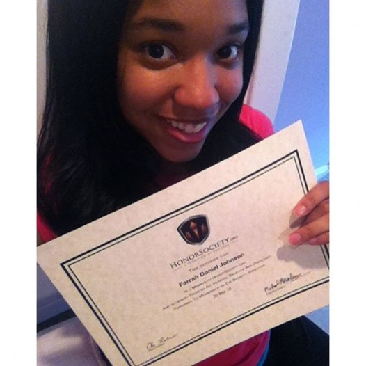A big thanks to Farrah Johnson for being so actively involved with HonorSociety.org and following us so closely on social media. We love your enthusiasm and can't wait to see the great things you go on to do!