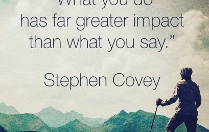 Actions speak louder than words. What will you do today? #hsorg