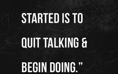 Walt knows the  to success…The hardest part is starting. #hsorg #starttoday