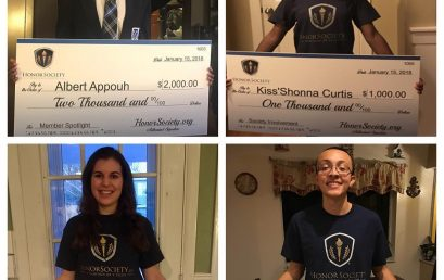 Congratulations to all of the recent scholarship recipients! Pictures below are 4 of the January…