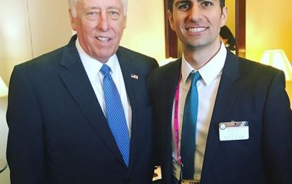 Honor Society director @mikemoradian meeting with US Congressman @repstenyhoyer who represents Maryland in congress. Honor Society has a large and active member base at University of Maryland and across the great state of Maryland. #congress #honorsociety