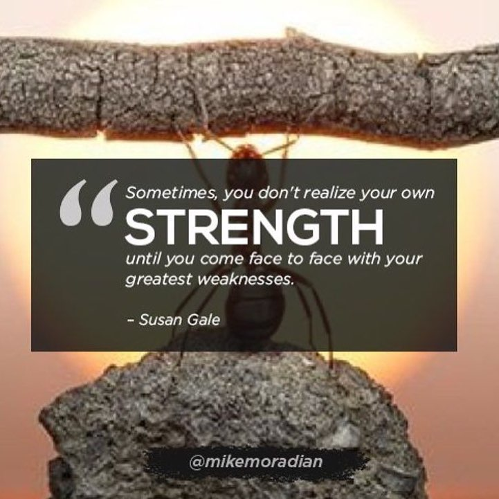Overcoming setbacks and weaknesses is the best way to build confidence in your strength!…