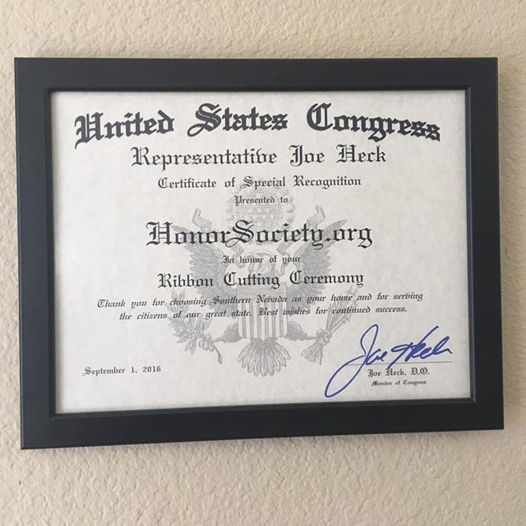 Very honored to receive this special recognition from Congress during our ribbon cutting ceremony!…