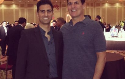 "Such a privilege to exchange notes with Mark Cuban. ""Sweat equity is the most valuable equity there…"