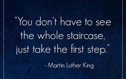 Just take the first step #DailyQuote #Motivation #HonorSociety #MLK