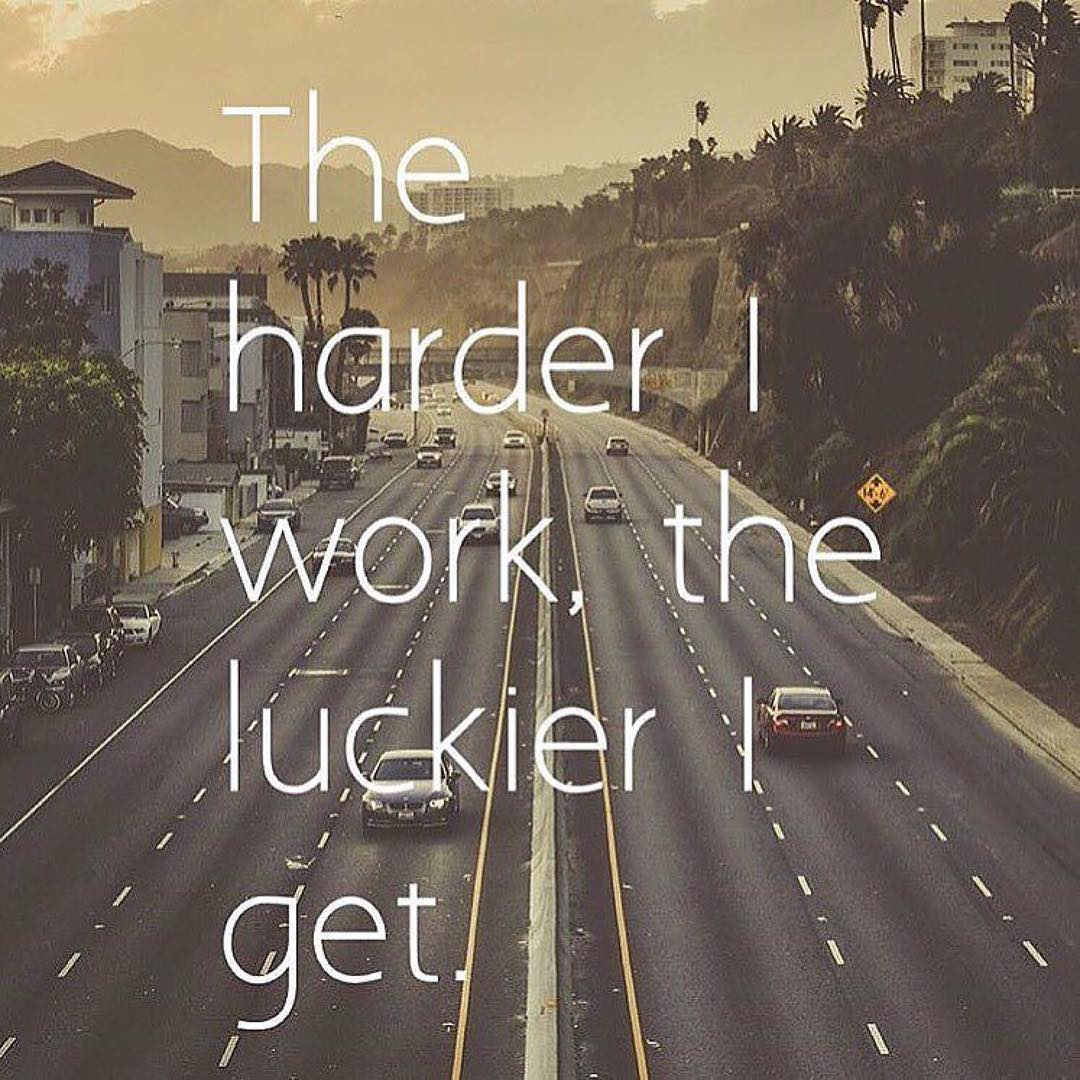 "This rings true to any hard worker that has ever been called ""lucky"""