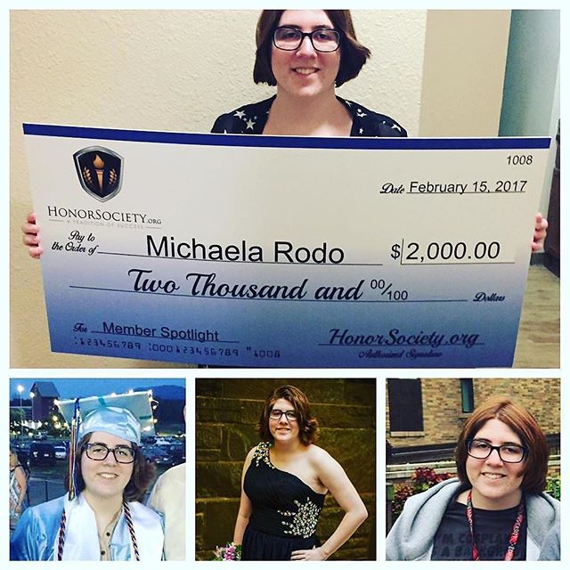 Don't forget, 4 scholarship deadlines are today! #throwback Congratulations to Michaela Rodo, from…