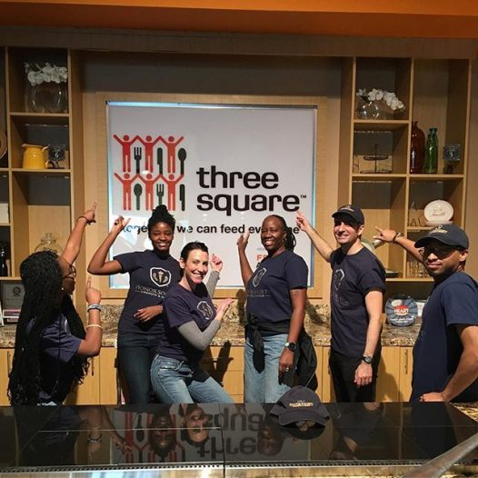 Volunteering at the Three Square Food Bank with the UNLV Honor Society chapter was an amazing and fun experience! We helped packed over 5,000 meals, all while joking, listening to music and having a great time. Definitely recommend this service project! #honorsociety