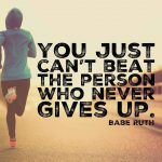 Perseverance is one of the biggest keys to long term success. Just don't give up. #honorsociety…