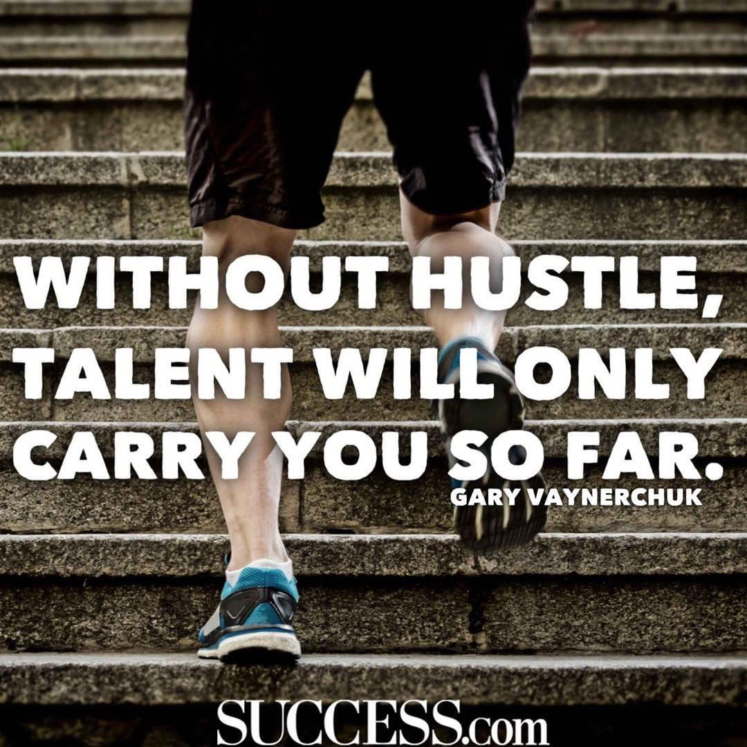 """Without hustle, talent will only carry you so far."" #honorsociety"