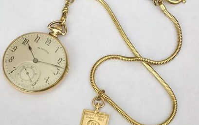 Our newest Honor Society Museum artifact. Honor Society members commonly carried around keys representing their society. Did you know that these keys were used to wind pocket watches, such as the one pictured? Amazing example of form and function from almost 100 years ago! #honorsociety