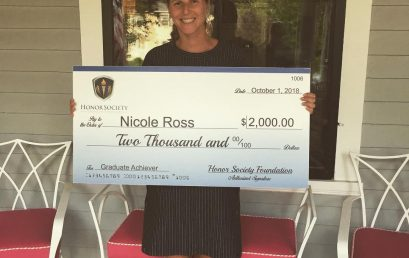 Congrats to Nicole Ross. Honor Society Graduate Achiever Scholarship Recipient. #honorsociety.org…