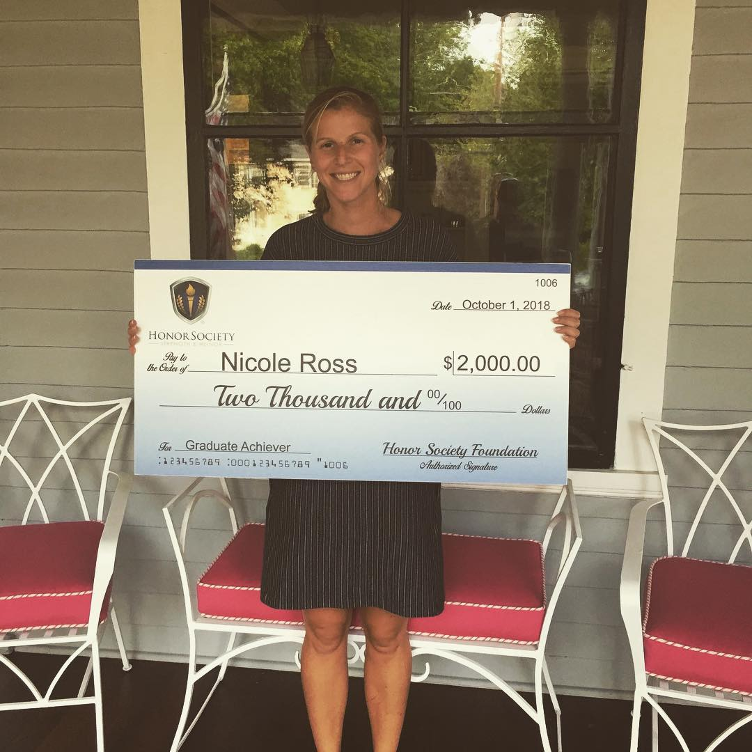 Congrats to Nicole Ross. Honor Society Graduate Achiever Scholarship Recipient. #honorsociety.org…