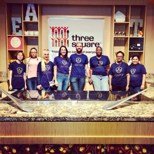 Honor Society UNLV Chapter Volunteering Day. Three Square, Kids Cafe Kitchen. #threesquare…