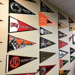 Each time a new chapter is established the National Office celebrates by pinning a pennant on the…